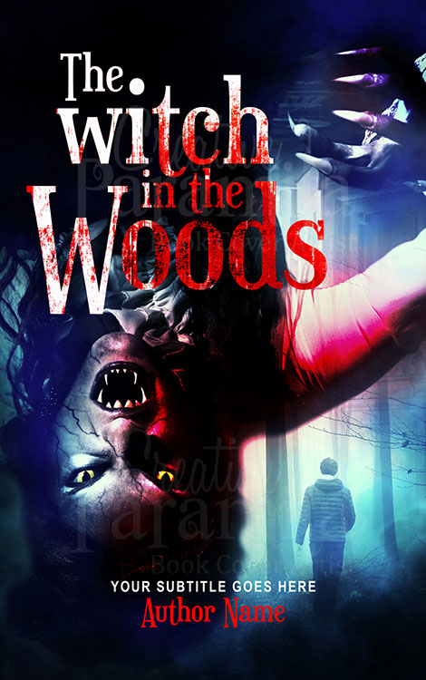 horror witch book cover design