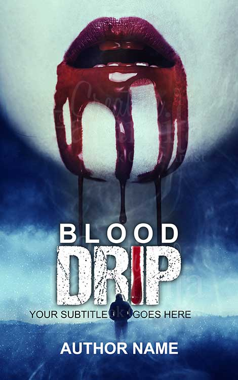 horror vampire premade book cover design