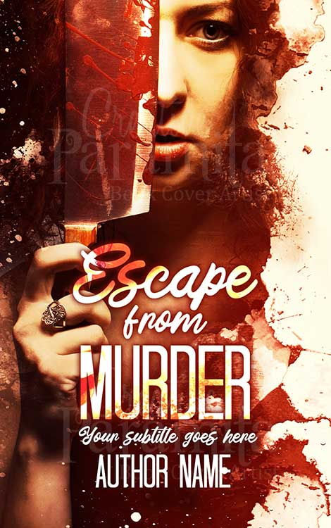 murder thriller eBook cover design
