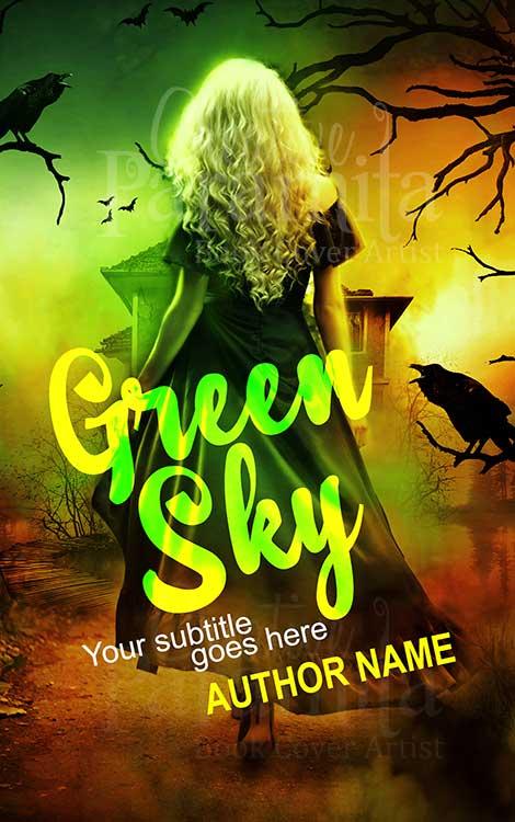 fantasy horror book cover design