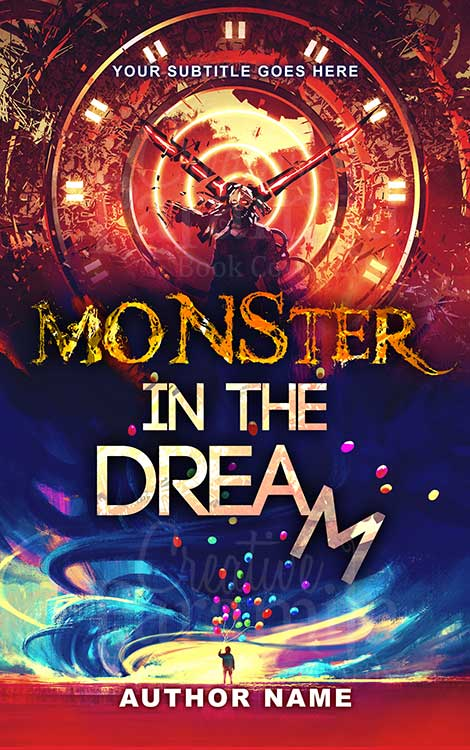 horror monster premade book cover