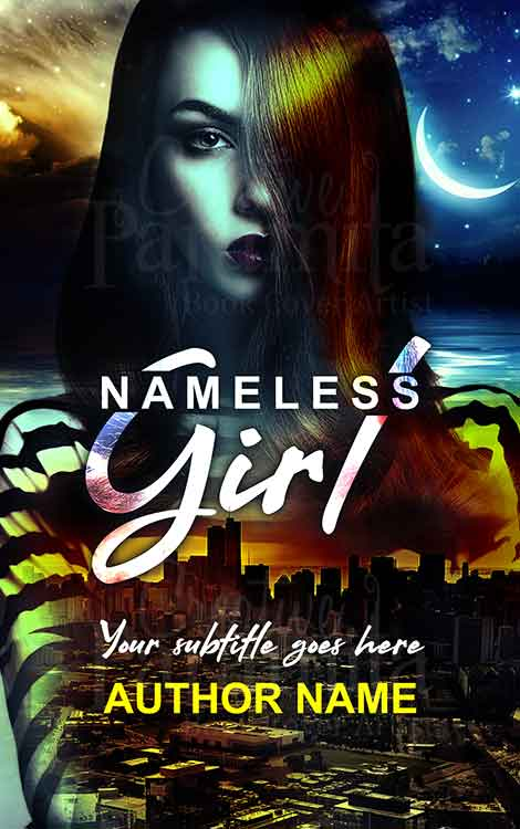 lady city thriller book cover design