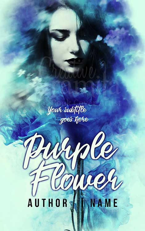 blue girl romance book cover design