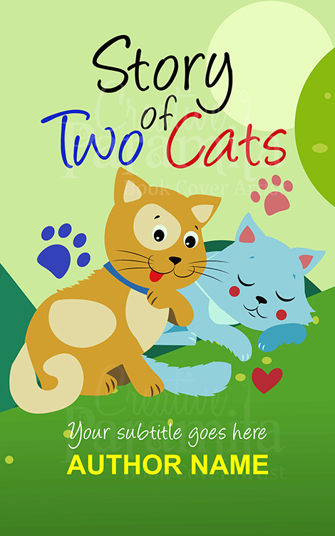 kids story book of two cat cover art
