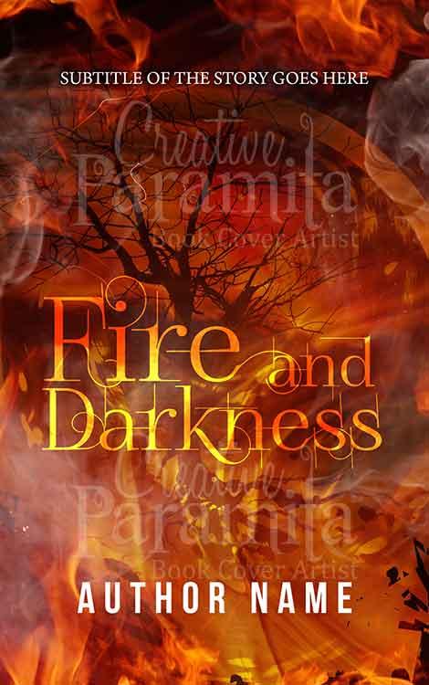 tree fire and smoke premade eBook cover
