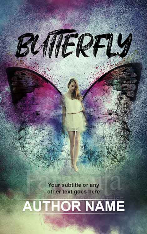 lady with wings premade book cover