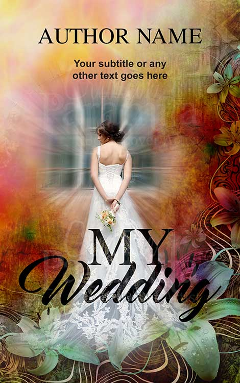 marriage wedding lady gown premade book cover