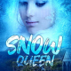 blue fantasy snow girl book cover