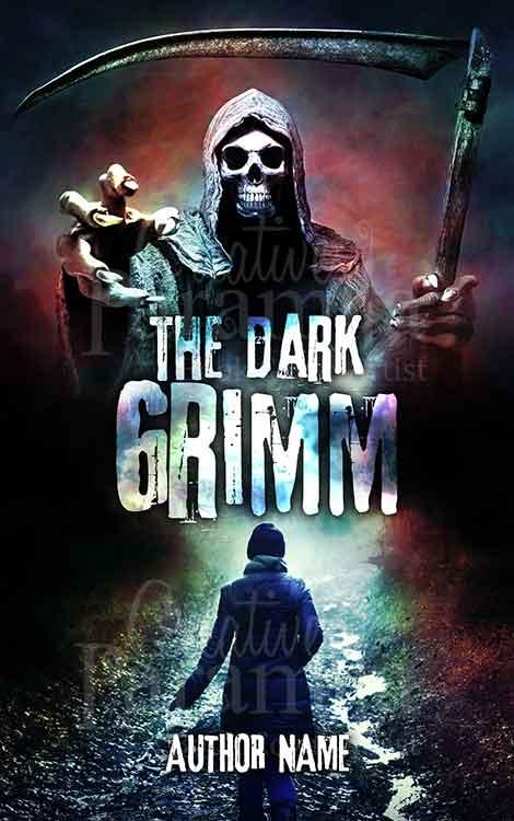 Dark horror grim book cover