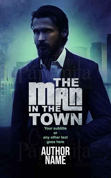 man in suit crime thriller book cover