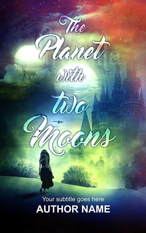 castle moon fantasy book cover