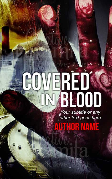 crime thriller blood hand book cover