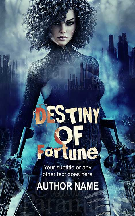 scifi warrior book cover design