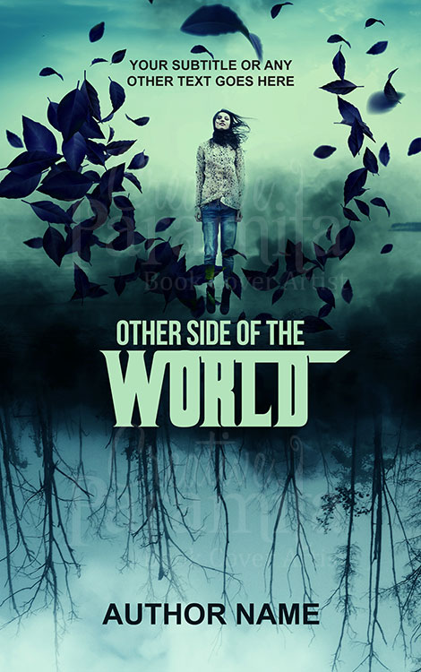 upside down world and a woman book cover