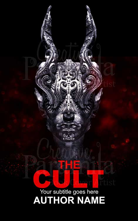 dark horror statue book cover