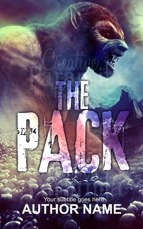 werewolf fantasy book cover design
