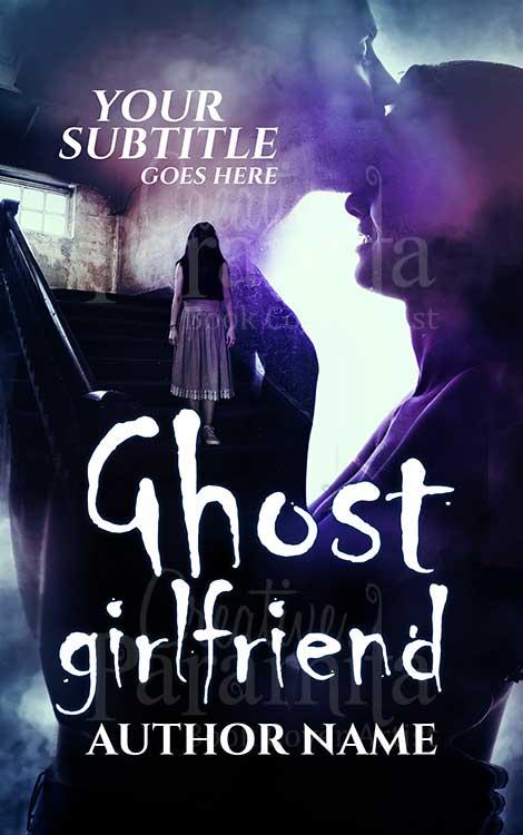 spooky ghost book cover design