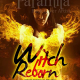 burning witch fantasy premade book cover