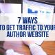 author books website traffic