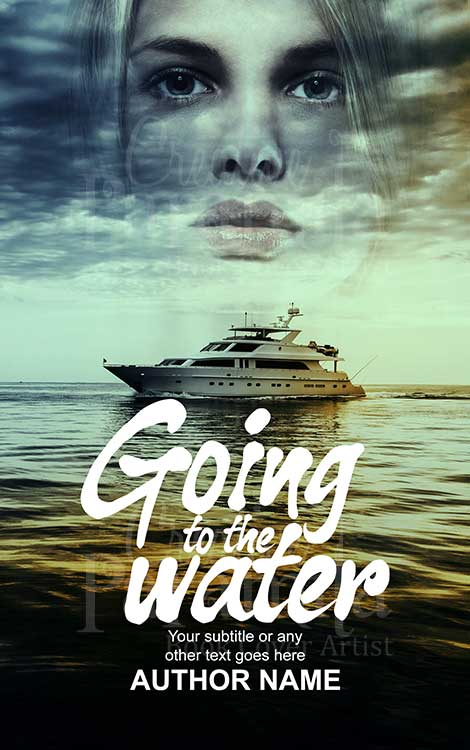 cruise and woman premade book cover