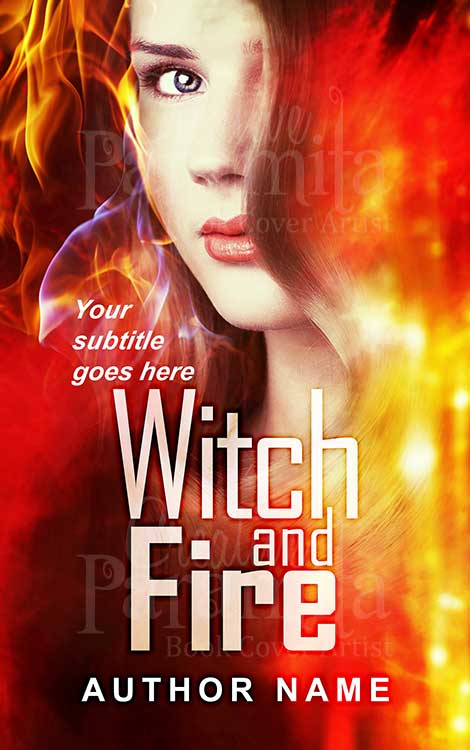 witch fantasy fire book cover