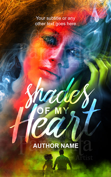 romance color splashes eBook cover design