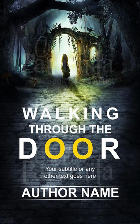scifi fantasy portal woman door book cover